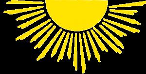 Button Ferienwohnung Lahl Sonne transparenter Hintergrund